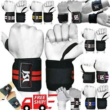 Gym training power weight lifting wrist wraps straps bandage cross fit support