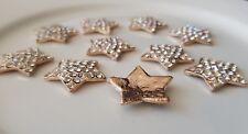 5 x 22mm Gold Star Rhinestones Metal Flat back, Crafting & Scrapbooking