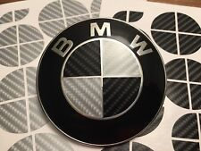 BLACK AND SILVER CARBON FIBER Complete Set of Vinyl Overlay All BMW Emblems