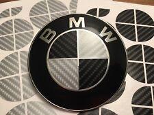 Black And Silver Carbon Fiber Complete Set of Vinyl Overlay All Bmw Emblems