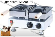 Helado Eléctrica Antiadherente comercial máquina de hacer gofres de pescado Baker Taiyaki