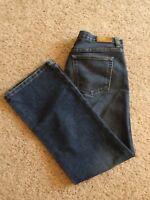 Womens Tommy Hilfiger Jeans Low Rise Boot Cut Size 12 Stretch Blue Denim K21