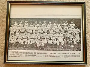 RARE 1939 WORLD SERIES CINCINNATI REDS TEAM PHOTO BASEBALL MLB HOF Framed
