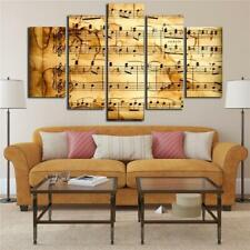 Vintage Music Score Sheet 5 piece HD Art Poster Wall Home Decor Canvas Print