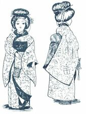 "16"" Chinese ASIAN JAPANESE DOLL KIMONO underwear  WIG THONGS sewing PATTERN"