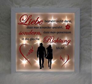 """Beleuchteter Bilderrahmen """"Liebe"""" (4) - gleiche Richtung"""