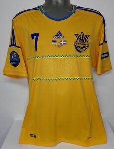 ADIDAS UKRAINE HOME EURO2012 SHEVCHENKO L ORIGINAL JERSEY SHIRT