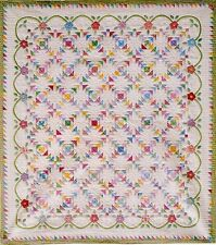 New Pieced and Applique Quilt Pattern  76x85  Traditional Beauty