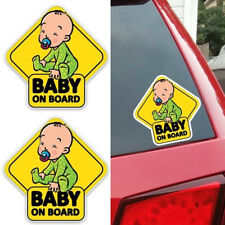 Cute Lovely  Colored Cartoon Auto Decoration Graphic  BABY ON BOARD Car Sticker