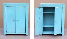 Placard armoire poupée jouet métal vintage vestiaire enfant toy metal cupboard