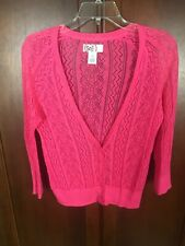 9699bb0bb8 So Junior Pink Button Cardigan Light Sweater Size M