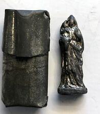 VINTAGE TRENCH ART POCKET SHRINE TINY WWI WWII RELIGIOUS STATUE SAINT ANNE