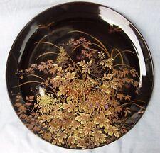 Shibata  Japanese  Decorative  Large Black  Plate with Dragonflies