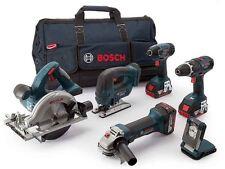Bosch 0615990H93 18V 3x5.0Ah Li-ion 6PC Cordless Tool Kit