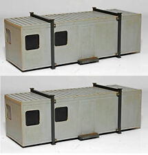 BNIB N GAUGE KNIGHTWING PN18 2x CABIN / PORTABLE OFFICE. PLASTIC KIT