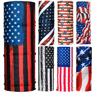 American USA Flag Astronaut Neck Tube Snood Scarf Face Mask Warmer Bandana