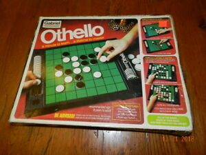 Vintage 1975 Othello Board Game w/Disc Covers Original Box Complete by Gabriel