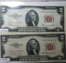 $2 RED SEAL 1953 A&C SERIES NOTES AA BLOCK- UNCIRCULATED FREE SHIPPING !