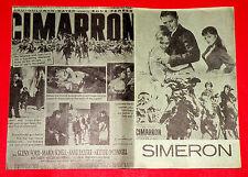 CIMARRON 1961 GLEN FORD MARIA SCHELL ANNE BAXTER ANTHONY MANN EXYU MOVIE PROGRAM