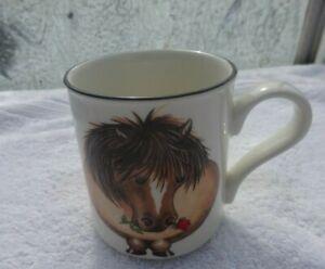 Arthur wood Back and front mug Horse