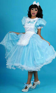 Satin Organza Sissy Maid Dress Cosplay Dressers tailor-made
