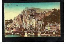 cpa Belgique DINANT - Pont, Citadelle et Église (1934)