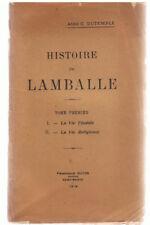 DUTEMPLE - HISTOIRE DE LAMBALLE TOME PREMIER - LIVRE ANCIEN RARE - COTES D'ARMOR