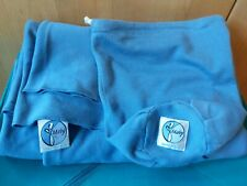 Moby Baby Wrap Sling Carrier Pale Blue with bag