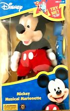 Disney Mickey Mouse Musical Marionette Plush in Box Rare