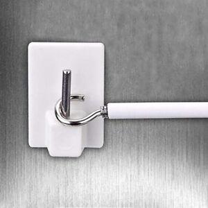 6x Home Drapery Hooks Holders Curtains Self-adhesive Rod Curtain Bracket Pole