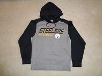 NFL Pittsburgh Steelers Black & Gray Hoodie - Size S