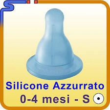 TETTARELLA CHICCO ANTISINGHIOZZO SILICONE PRIMI MESI (0-4 M) CLASSICO AZZURRATO