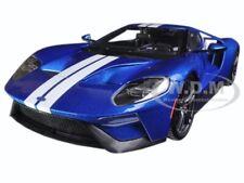 2017 Ford Gt Dark Blue White Stripes Exclusive Ed 1/18 Diecast Car Maisto 38134
