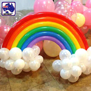 200x Mixed Color Long Animal Tying Making Balloons Rainbow Balloon GBALL2023x200