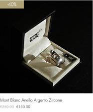 Montblanc Anello Argento con Zircone (-40% scontato fine serie!!!)