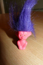 Vintage y muy raro CREATA TROLL muñeca-Púrpura Hair-aterrar a sus! Look