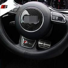 Real Carbon Fiber S Line Logo Car Steering Wheel Sticker 3D Emblem For Audi