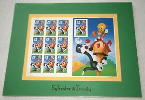 NEW! UNITED STATES POSTAL SERVICE Sylvester & Tweety MATTED PANE, ITEM No. 9943