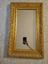 "Vintage 80s Ornate Gold wood Frame Wall Mirror Windsor Art Products Usa 26""× 16"""