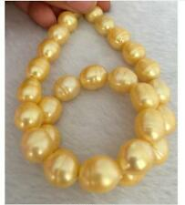gorgeous 10-11mm south sea baroque gold pearl loose beads 13""