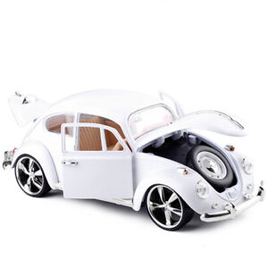1:18 Classic VW Beetle Superior 1967 Model Car Alloy Diecast White Collection