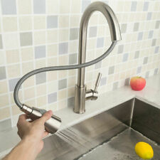 Modern Swivel Kitchen Tap Pipe Pull Out Sink Single Lever Mixer Spout Faucet