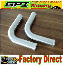 "2PCS 63mm 2.5"" 90 Degree Elbow Aluminum Turbo Intercooler Pipe Piping Tubing NEW"