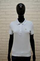 LACOSTE Size 42 M Maglia Polo Donna Manica Corta Camicia Shirt Damenhemd Cotone
