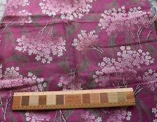 7978 1 7/8 yd antique 1900-10 light weight drapery fabric, magenta, flowers