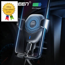 Ugreen Car Mount Qi Fast Wireless Charger Stand to iPhone X 8 Plus Galaxy S9 S8