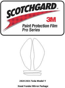 3M Scotchgard Pro Paint Protection Film 2020 2021 Tesla Model Y Headlights