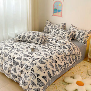 New Printing Butterfly Bed Pillowcases Quilt Duvet Cover