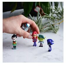 Teen Titans Go Figure Robin Raven Beast Boy Starfire Figurine Model Kids Toy