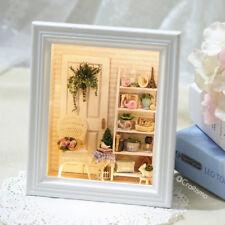 1: 24 DIY Miniature Dollhouse Kit Sunshine Zakka Room Shabby Chic Scene Box
